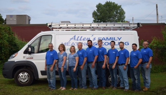 check and drug test.  Our Benefits Package Allen's Family Heating & Cooling team
